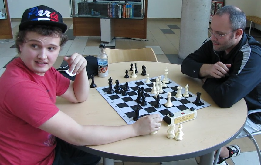 Troff plays Blitz chess after the tournament